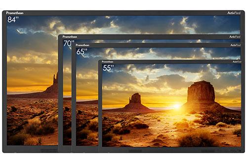 Les écrans interactifs Promethean sont disponibles en plusieurs tailles.