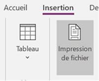 Impression fichier