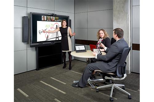 Avec tous les éléments associés à l'écran interactif, SMART Room System pousse vos réunions à une productivité de pointe