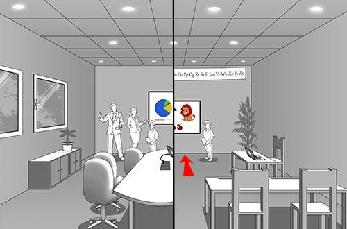 Salle 3D: la distance entre le premier rang et l'écran est cruciale dans le calcul de la taille de l'écran