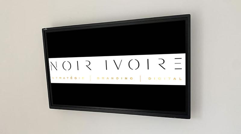 ecran interactif agence noir ivoire