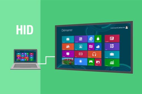 La norme HID permet de connecter un ordinateur à un écran interactif sans installation de driver
